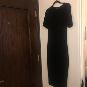 Zara. Black, midi, bodycon dress. Size M.